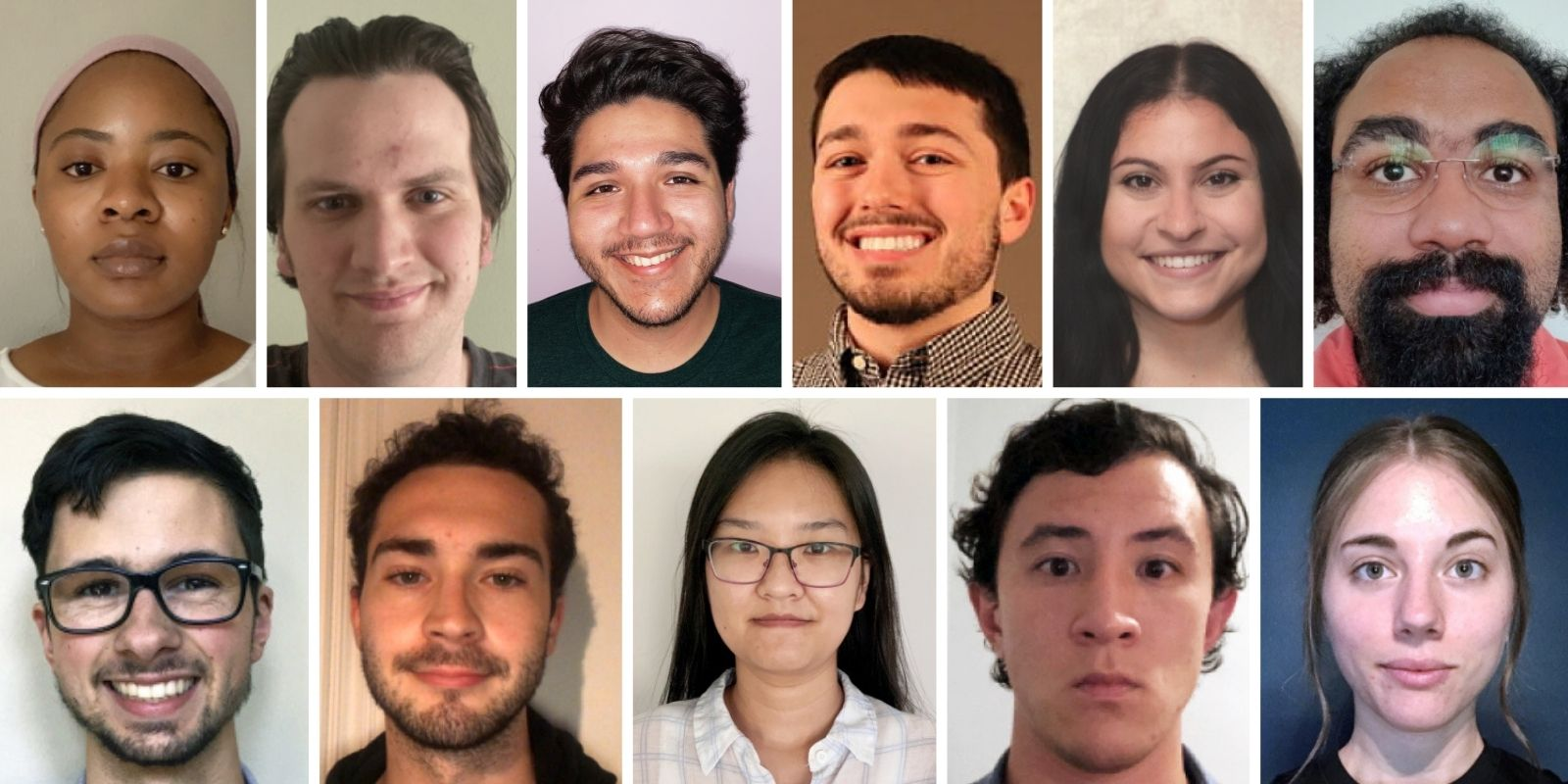 Faces of the incoming 2020 chemistry class.