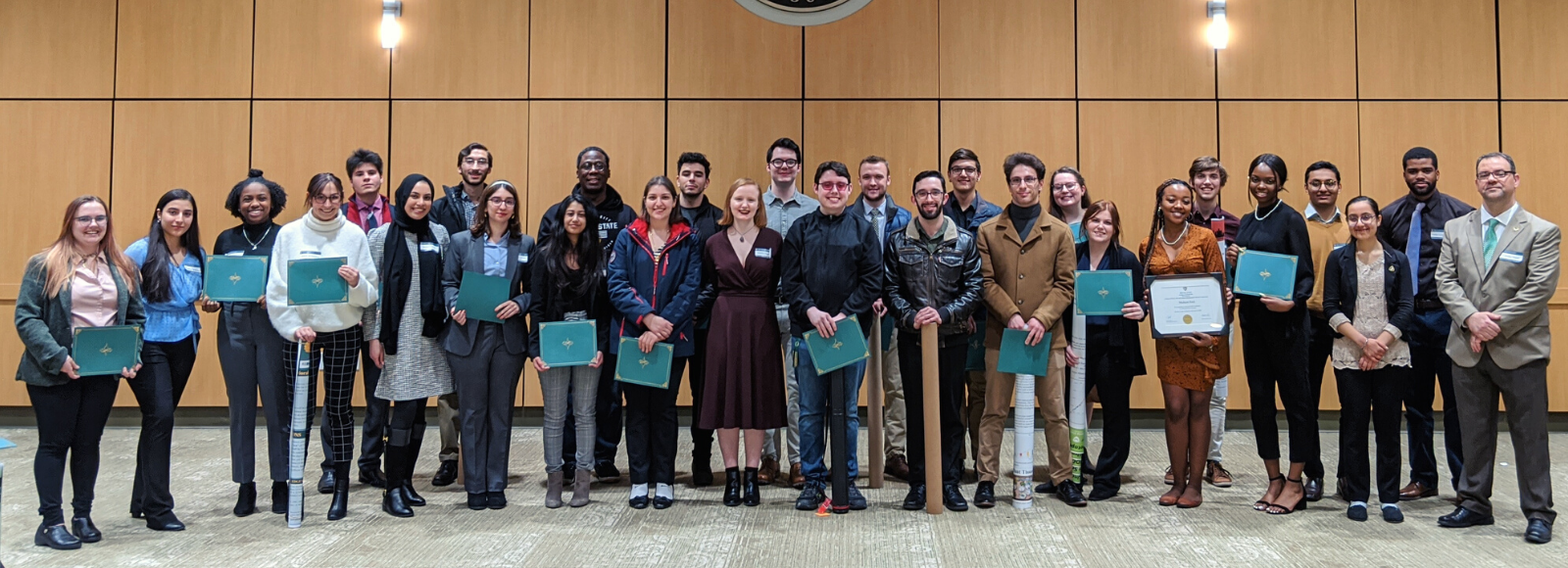 Group shot of student researchers at the 2020 symposium