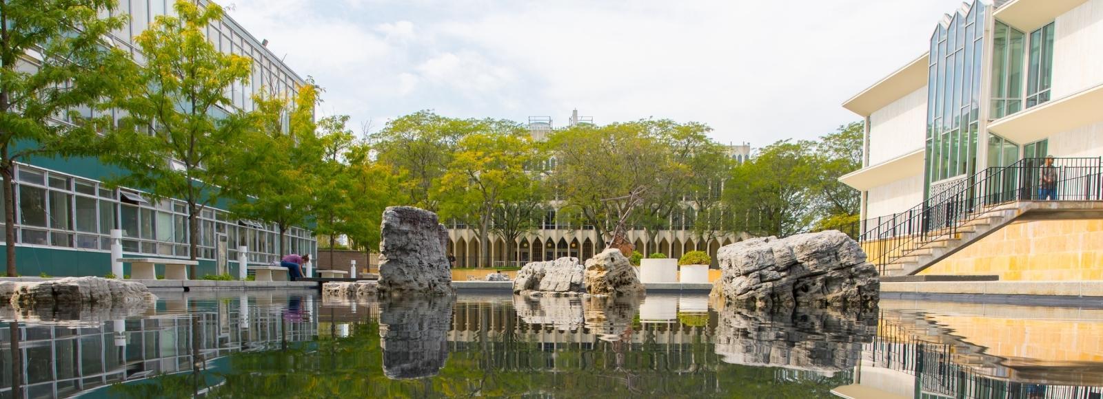 Image of WSU's McGregor Reflecting Pools
